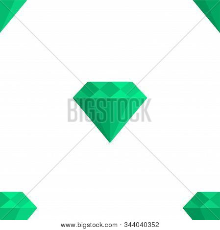 Mineral. Vector Patterns In A Flat Style. Geology, Jewel Crafting, Gemology. Vector Illustration. Wh