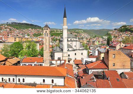 The Gazi Husrev Bey Mosque In The City Of Sarajevo Bosnia And Herzegovina.