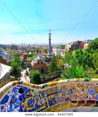Park-Guell in Barcelona, Spain. poster