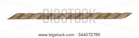 Vector Jute Rope Isolated On White Background