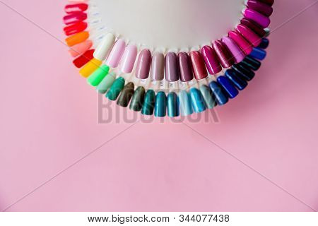Polish For Fashion Manicure. Shiny Gel Lacquer.nail Art Design Wheel. Colorful Cats Eye Nail Lacquer