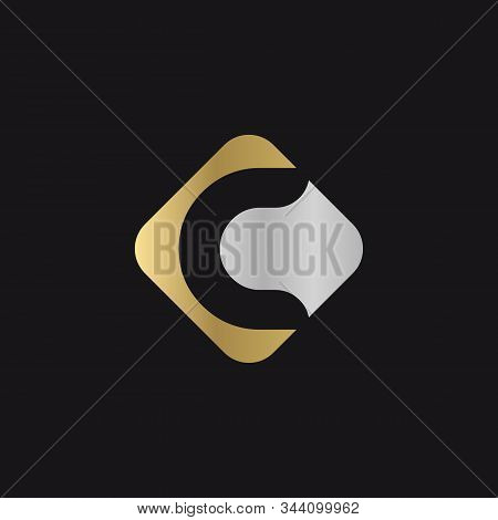 Initial Square Letter C Logo With Modern Typography Vector Template. Creative Abstract Letter C Logo