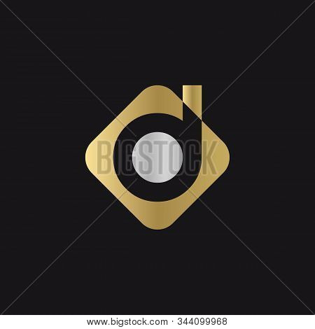Initial Square Letter D Logo With Modern Typography Vector Template. Creative Abstract Letter D Logo