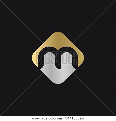 Initial Square Letter M Logo With Modern Typography Vector Template. Creative Abstract Letter M Logo