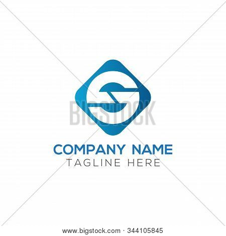 Initial Square Letter S Logo With Modern Typography Vector Template. Creative Abstract Letter S Logo