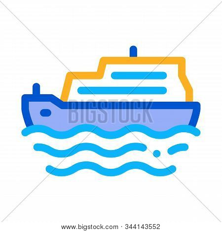 Pleasure Boat Icon Vector. Outline Pleasure Boat Sign. Isolated Contour Symbol Illustration