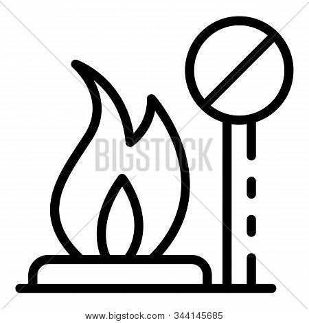 Bonfire Icon. Outline Bonfire Vector Icon For Web Design Isolated On White Background