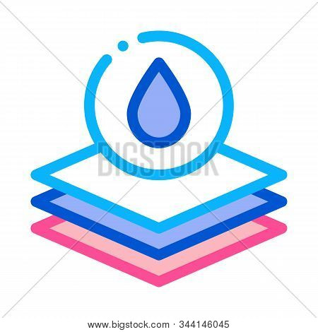 Absorbent Layers Icon Vector. Outline Absorbent Layers Sign. Isolated Contour Symbol Illustration