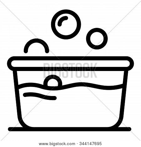 Wash Basin Icon. Outline Wash Basin Vector Icon For Web Design Isolated On White Background