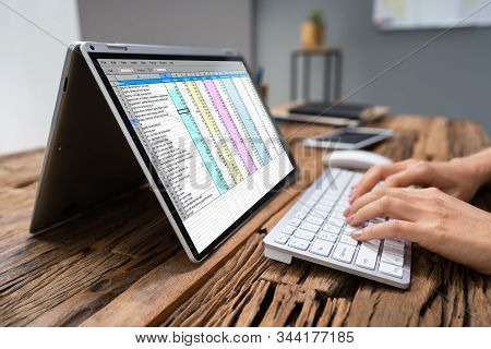 Professional Businesswoman Working On Computer