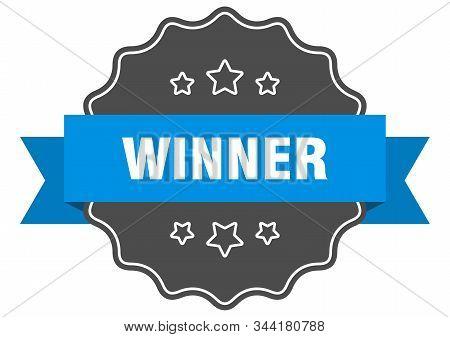 Winner Blue Label. Winner Isolated Seal. Winner