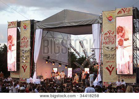 Georgian Band Mgzavrebi At World Music Festival