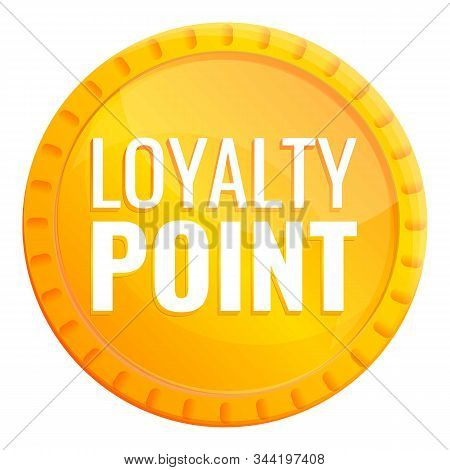 Loyalty Gold Point Icon. Cartoon Of Loyalty Gold Point Vector Icon For Web Design Isolated On White