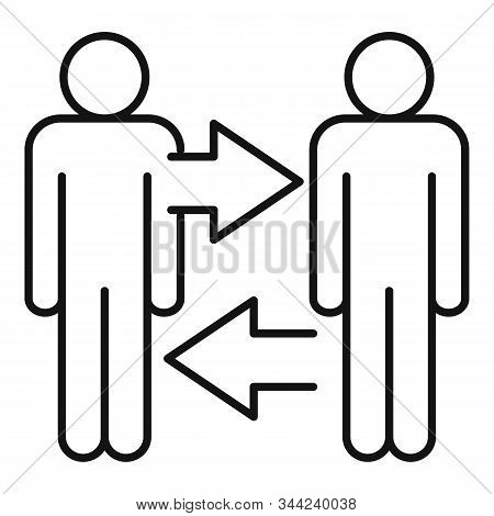 Initiative Cooperation Icon. Outline Initiative Cooperation Vector Icon For Web Design Isolated On W