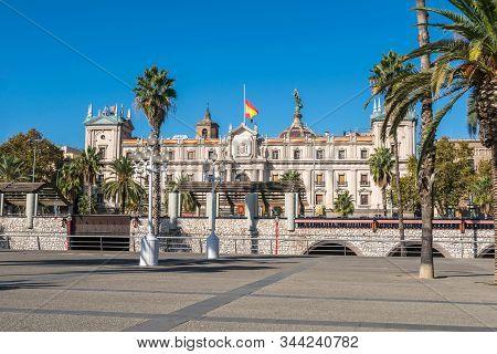 Barcelona, Spain - November 2, 2019: Captaincy General  (spanish: Palacio De La Capitania General),