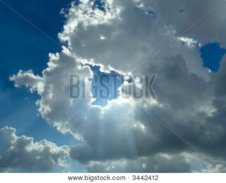 Silver Lining Rays Of Light