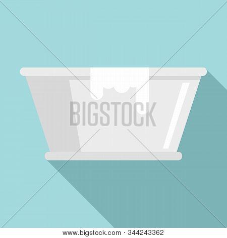 Milk Basin Icon. Flat Illustration Of Milk Basin Vector Icon For Web Design