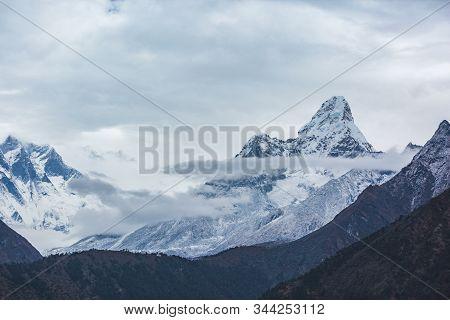 Ama Dablam Mount. Nepal, Sagarmatha National Park