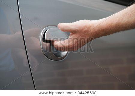 getting in a car