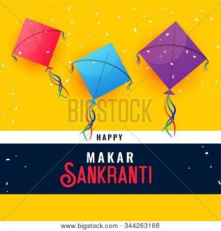 Happy Makar Sankranti Indian Festival Background Design