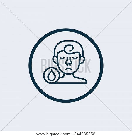 Sick Icon Isolated On White Background. Sick Icon Simple Sign. Sick Icon Trendy And Modern Symbol Fo