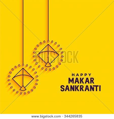 Yellow Minimal Makar Sankranti Festival Background Design