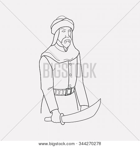 Traditional Arabian Icon Line Element. Illustration Of Traditional Arabian Icon Line Isolated On Cle