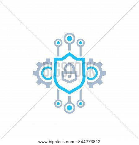 Encryption And Encrypted Data Vector Icon, Eps 10 File, Easy To Edit