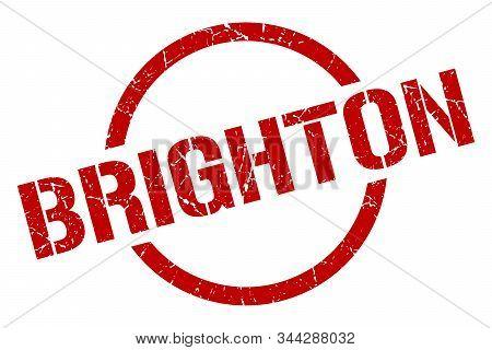 Brighton Stamp. Brighton Grunge Round Isolated Sign