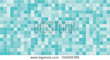 Tile Background. Abstract Block Pattern. Bath Texture. Square Tiles. Multi Colored. Flat Lay Backgro