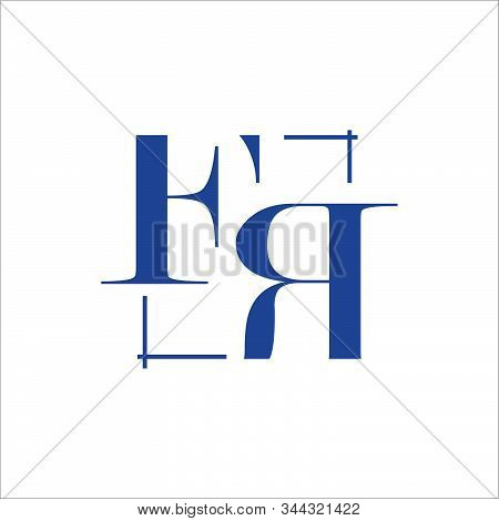 Creative Initial F R Letter Fr Logo Design Vector Graphic Concept