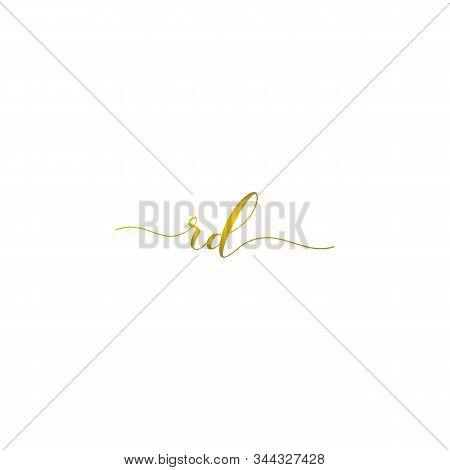 Rd Initial Handwriting Logo Vector Premium Designs