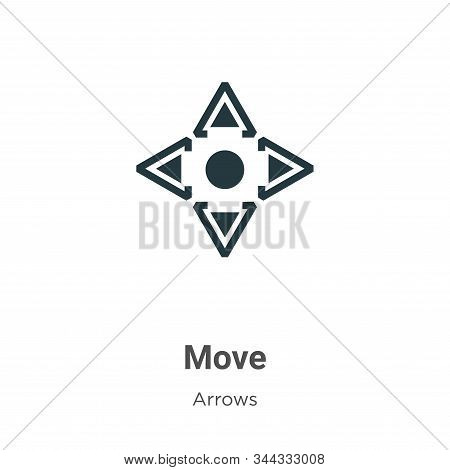 Move icon isolated on white background from arrows collection. Move icon trendy and modern Move symb