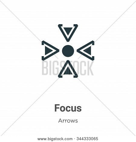 Focus icon isolated on white background from arrows collection. Focus icon trendy and modern Focus s