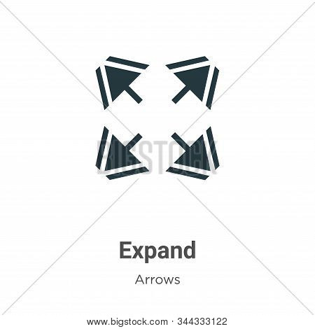 Expand icon isolated on white background from arrows collection. Expand icon trendy and modern Expan
