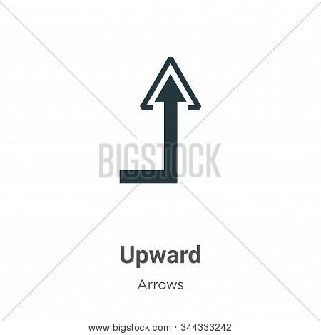 Upward icon isolated on white background from arrows collection. Upward icon trendy and modern Upwar
