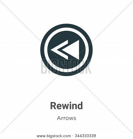 Rewind icon isolated on white background from arrows collection. Rewind icon trendy and modern Rewin