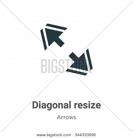 Diagonal Resize Vector Icon On White Background. Flat Vector Diagonal Resize Icon Symbol Sign From M