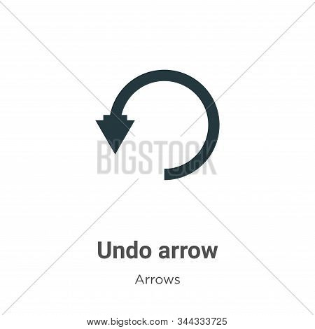 Undo arrow icon isolated on white background from arrows collection. Undo arrow icon trendy and mode