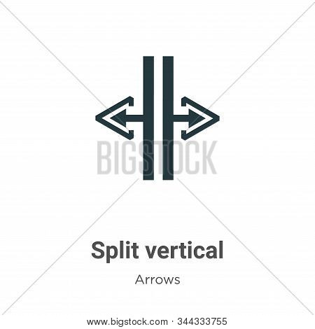 Split vertical icon isolated on white background from arrows collection. Split vertical icon trendy