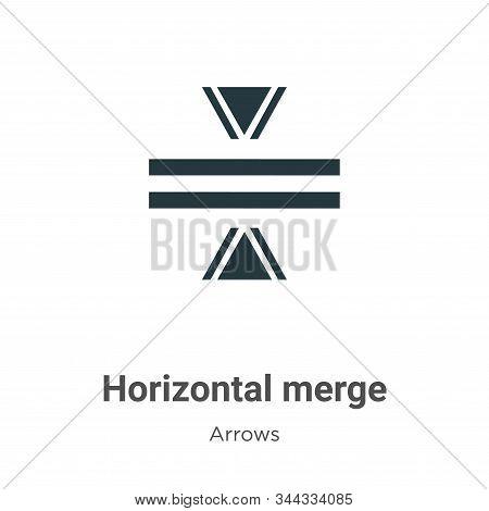 Horizontal merge icon isolated on white background from arrows collection. Horizontal merge icon tre