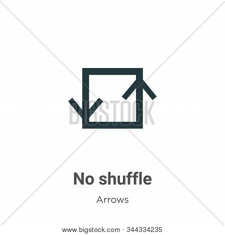 No Shuffle Vector Icon On White Background. Flat Vector No Shuffle Icon Symbol Sign From Modern Arro