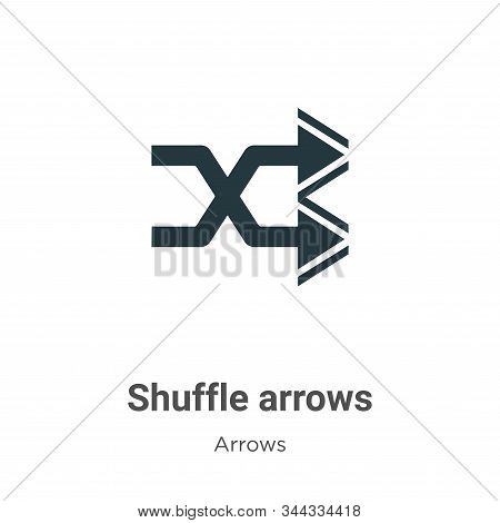Shuffle Arrows Vector Icon On White Background. Flat Vector Shuffle Arrows Icon Symbol Sign From Mod