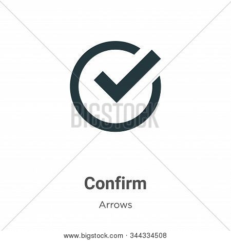 Confirm icon isolated on white background from arrows collection. Confirm icon trendy and modern Con