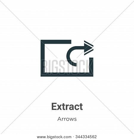 Extract icon isolated on white background from arrows collection. Extract icon trendy and modern Ext