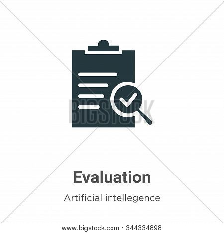Evaluation icon isolated on white background from artificial intellegence and future technology coll
