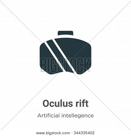 Oculus rift icon isolated on white background from artificial intellegence and future technology col