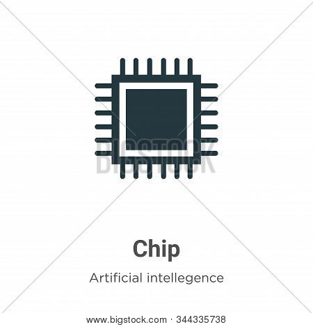 Chip icon isolated on white background from artificial intelligence collection. Chip icon trendy and