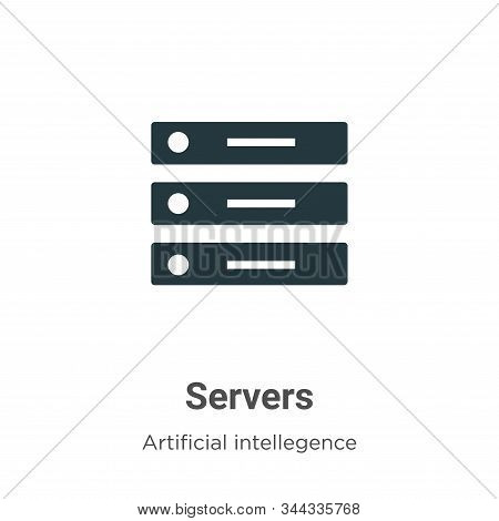 Servers icon isolated on white background from artificial intelligence collection. Servers icon tren