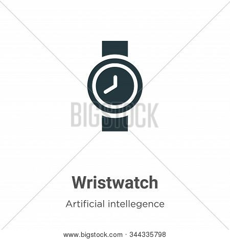 Wristwatch Vector Icon On White Background. Flat Vector Wristwatch Icon Symbol Sign From Modern Arti